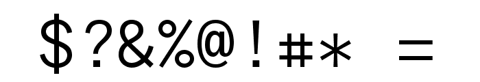 Anonymous Pro Regular Font OTHER CHARS