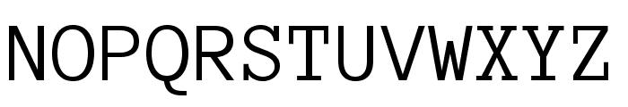 Anonymous Pro Regular Font UPPERCASE