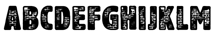 Another Brick Font UPPERCASE