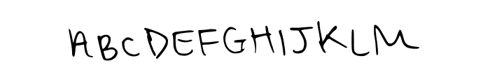 Another One Regular Font UPPERCASE