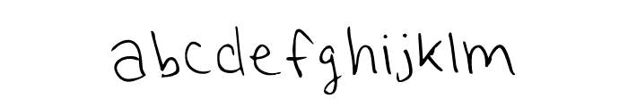 Another One Regular Font LOWERCASE