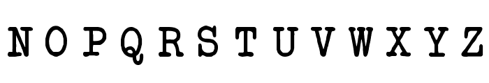 Another Typewriter Font UPPERCASE