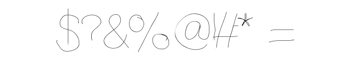 Anothertry Font OTHER CHARS