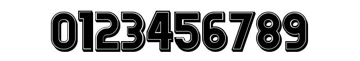 Answer 3D Filled Regular Font OTHER CHARS