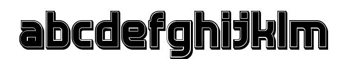 Answer 3D Filled Regular Font LOWERCASE