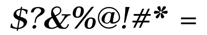 AntPoltLtExpd-BoldItalic Font OTHER CHARS