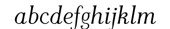AntPoltLtSemiCond-Italic Font LOWERCASE