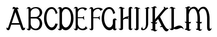 Antelope Font UPPERCASE