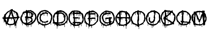 Anti Everything Font UPPERCASE