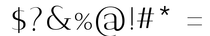 Antic Didone Font OTHER CHARS