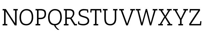 Antic Slab Regular Font UPPERCASE
