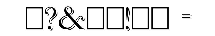 Antikvar Shadow Roman Font OTHER CHARS