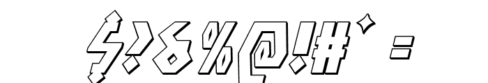 Antikythera 3D Italic Font OTHER CHARS