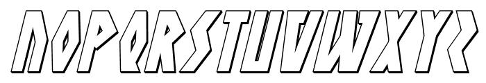 Antikythera 3D Italic Font UPPERCASE