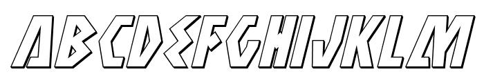 Antikythera 3D Italic Font LOWERCASE
