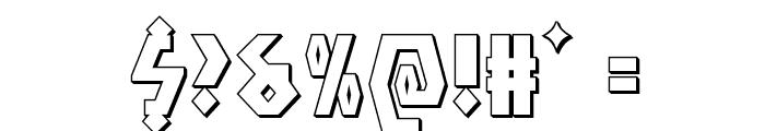 Antikythera 3D Regular Font OTHER CHARS