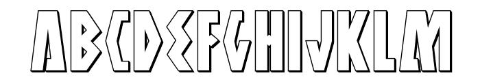 Antikythera 3D Regular Font UPPERCASE