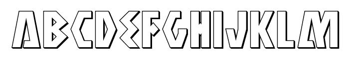 Antikythera 3D Regular Font LOWERCASE