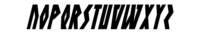 Antikythera Condensed Italic Font UPPERCASE