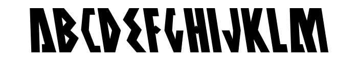 Antikythera Leftalic Font UPPERCASE