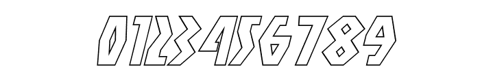Antikythera Outline Italic Font OTHER CHARS