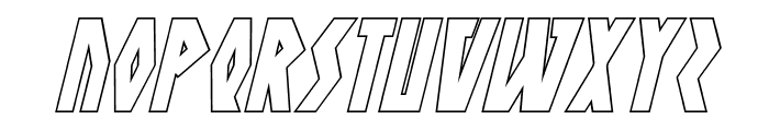 Antikythera Outline Italic Font UPPERCASE