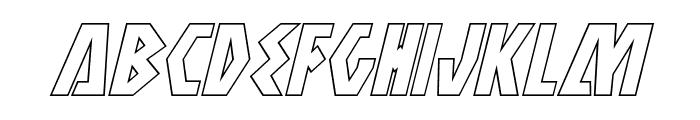 Antikythera Outline Italic Font LOWERCASE