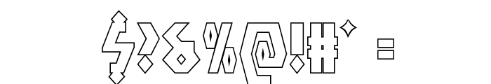 Antikythera Outline Regular Font OTHER CHARS