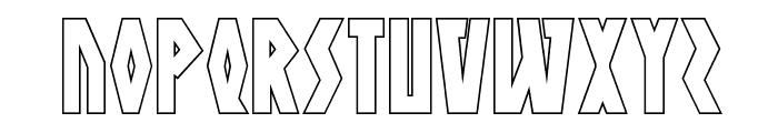 Antikythera Outline Regular Font UPPERCASE