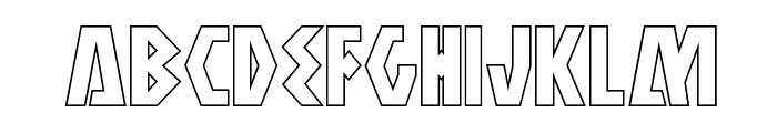 Antikythera Outline Regular Font LOWERCASE