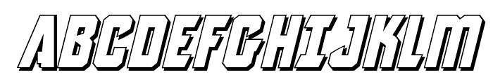 Antilles 3D Italic Font UPPERCASE
