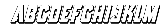 Antilles 3D Italic Font LOWERCASE