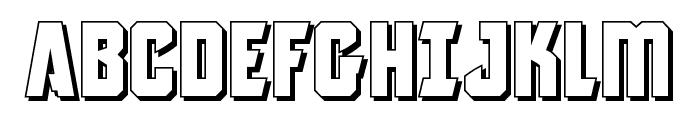 Antilles 3D Font UPPERCASE
