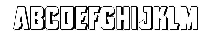 Antilles 3D Font LOWERCASE