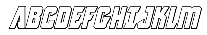 Antilles Outline Italic Font UPPERCASE