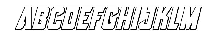 Antilles Outline Italic Font LOWERCASE