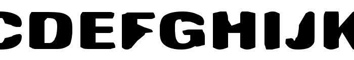 Antimony Funk Font UPPERCASE