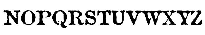 Antique Type Font UPPERCASE