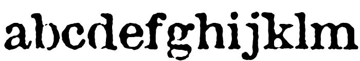 Antique Type Font LOWERCASE