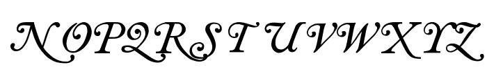 Antique roman swash Font UPPERCASE