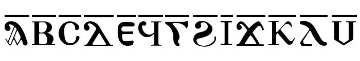 AntoniousOL OverLine Font UPPERCASE