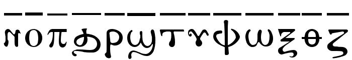 AntoniousOL OverLine Font LOWERCASE