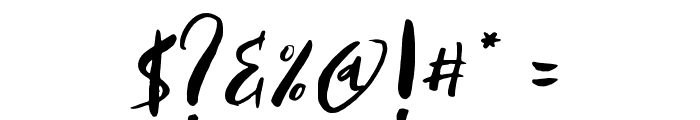 AntumsBrush Font OTHER CHARS
