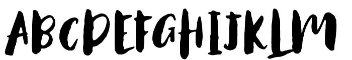 AntumsBrush Font UPPERCASE