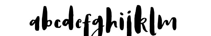 AntumsBrush Font LOWERCASE