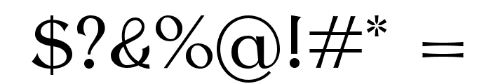 AntykwaTorunska-Regular Font OTHER CHARS