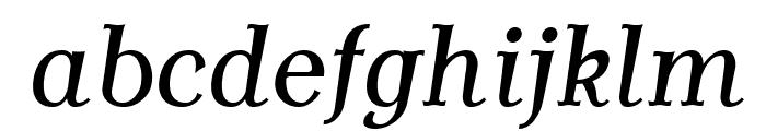 AntykwaTorunskaCond-Italic Font LOWERCASE