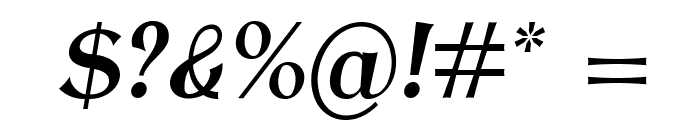 AntykwaTorunskaCondMed-Italic Font OTHER CHARS