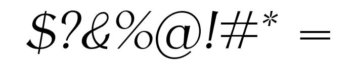 AntykwaTorunskaLight-Italic Font OTHER CHARS