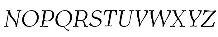 AntykwaTorunskaLight-Italic Font UPPERCASE